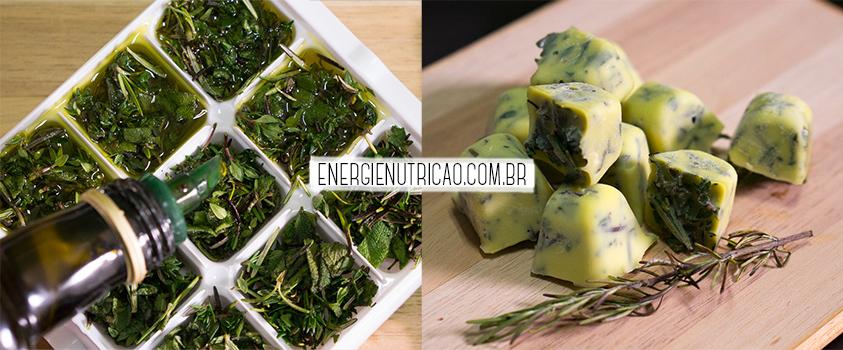 Como congelar legumes e verduras para não perder os nutrientes - Congelar ervas e temperos no azeite