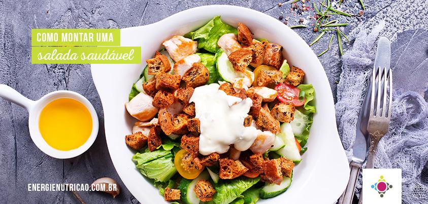 montar uma salada saudável