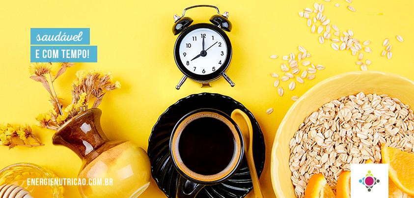 Como manter a alimentação saudável no dia a dia e otimizar meu tempo?