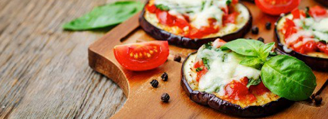 Receitas Low Carb - Pizza de Berinjela