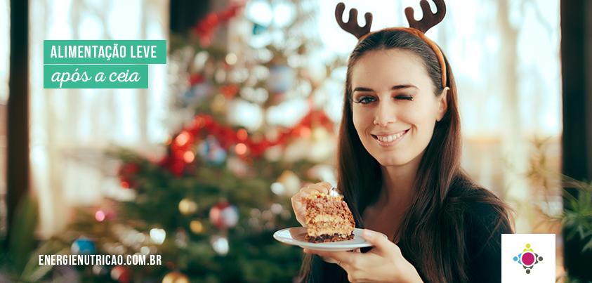 alimentação leve após a ceia de Natal