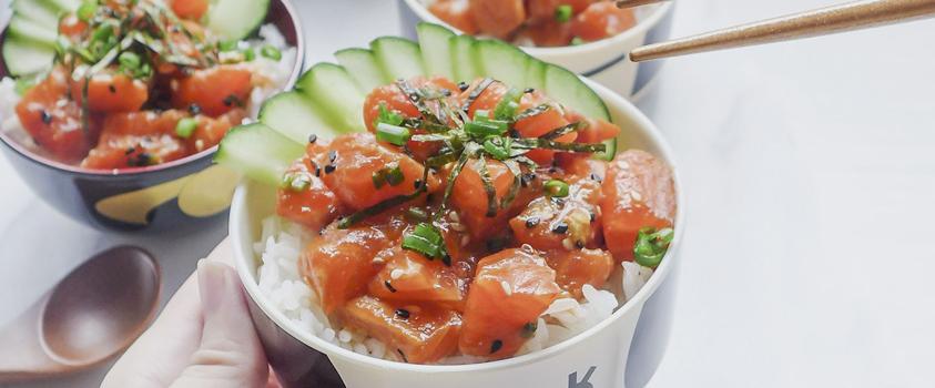 como incluir a comida japonesa na dieta - temaki no bowl - poke bowl salmão