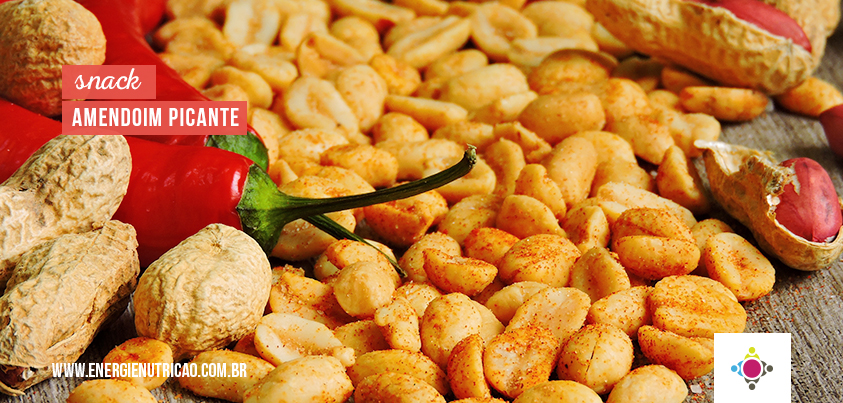 Amendoim Temperado Picante feito em casa