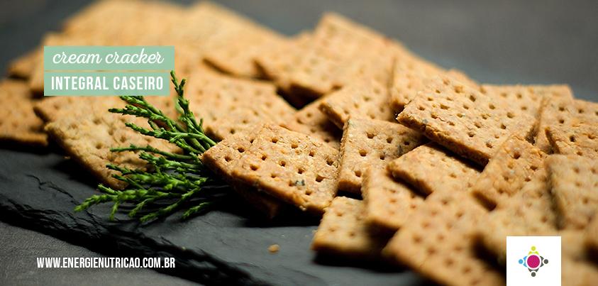 cream cracker integral caseiro