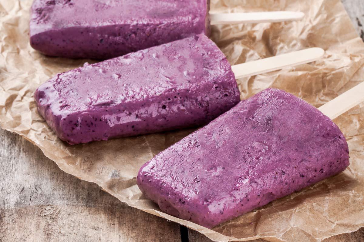 Sorvete de Uva e Iogurte - receitas para cozinhar com os filhos