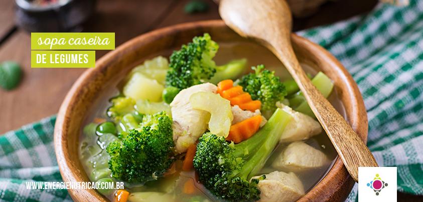 Sopa caseira de legumes