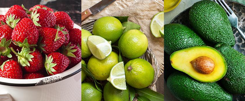 alimentos low carb lista - frutas
