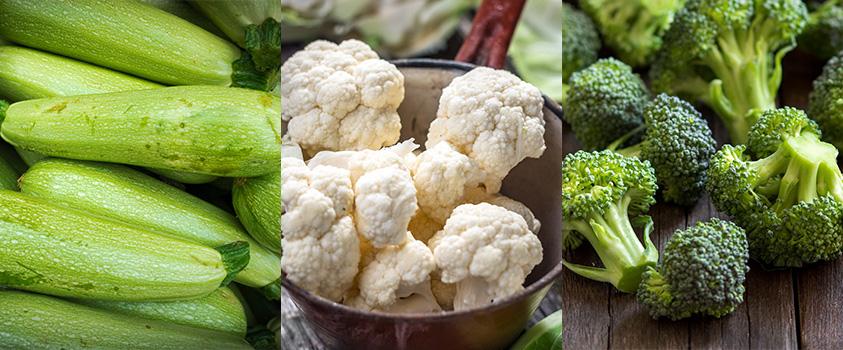 alimentos low carb lista - vegetais