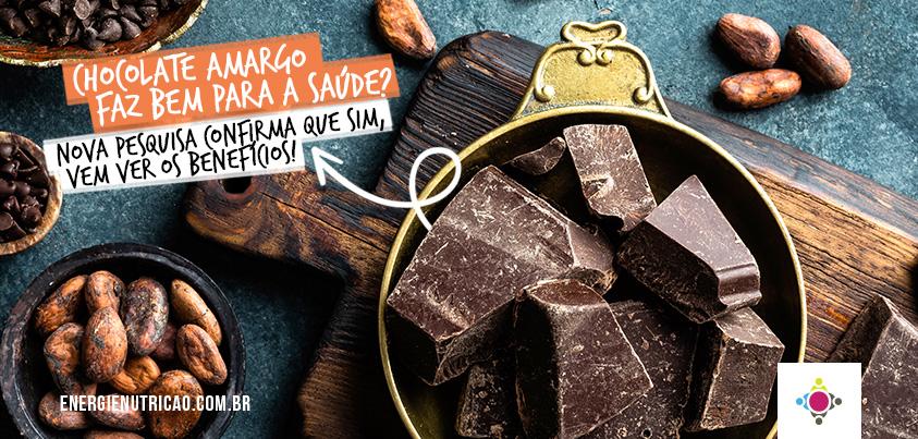 Chocolate amargo faz bem para saúde? Nova pesquisa diz que sim!